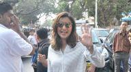 बांद्रा में एक विज्ञापन की शूटिंग के बाद नजर आईं परिणीति चोपड़ा