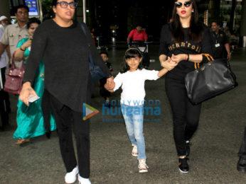 ऐश्वर्या राय बच्चन और आराध्या बच्चन  हवाई अड्डे पर आईं नजर