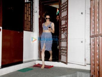 कंगना रानौत बांद्रा में डबिंग के बाद आईं नजर