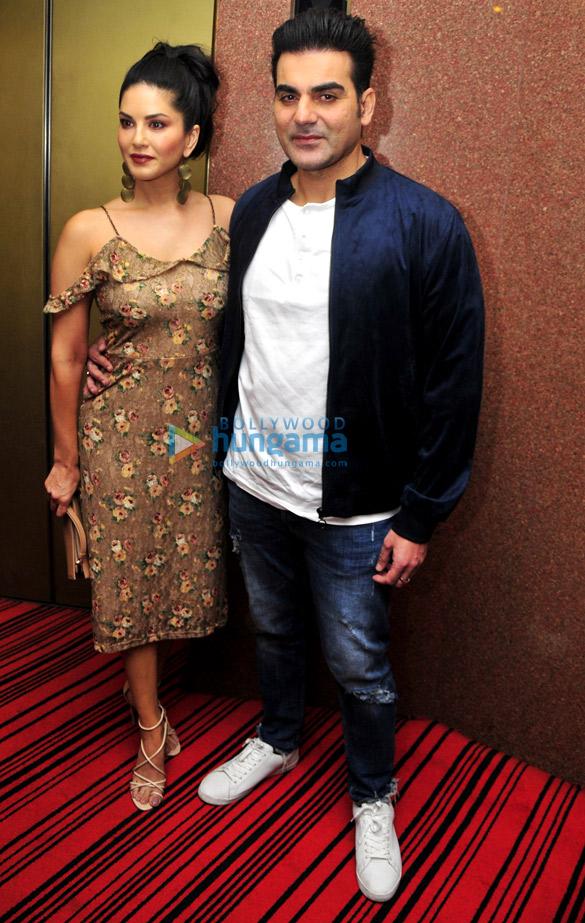 सनी लियोन और अरबाज खान ने दिल्ली में 'तेरा इंतजार' को प्रमोट किया