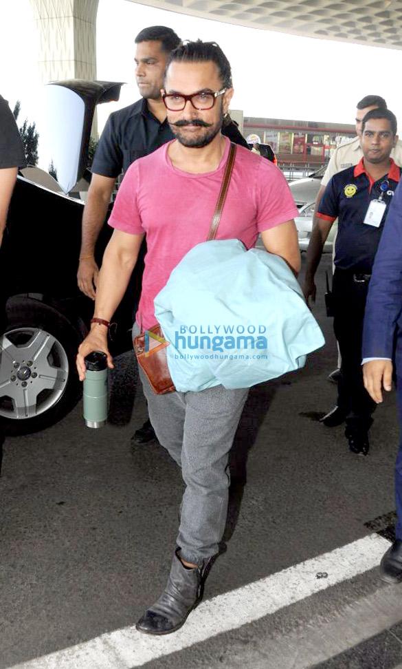 आमिर खान, अर्पिता खान शर्मा और अन्य एयरपोर्ट पर आए नजर