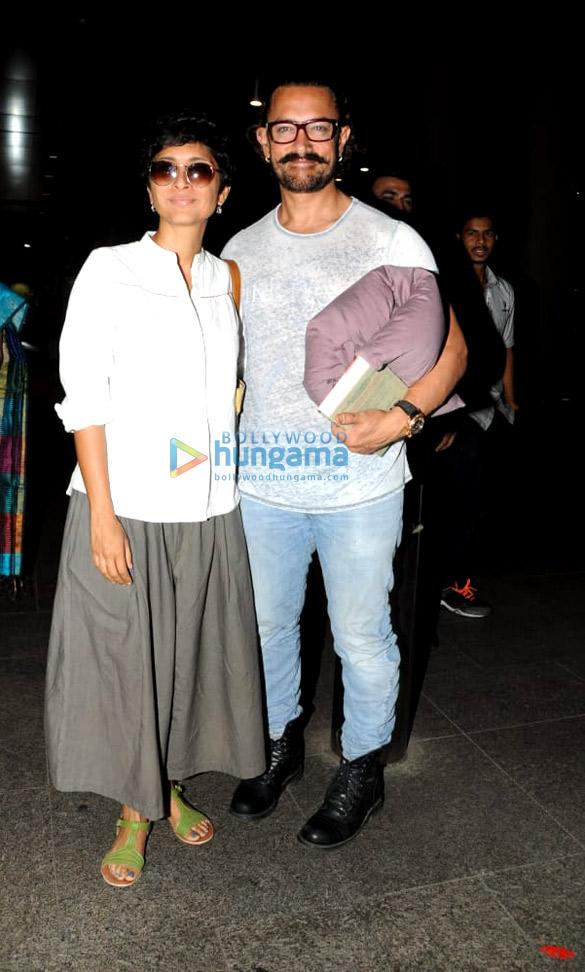 आमिर खान, किरण राव और अन्य एयरपोर्ट पर आए नजर