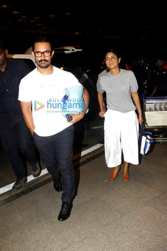 आमिर खान, रणवीर सिंह, अजय देवगन, सोहा अली खान और कुणाल खेमू हवाई अड्डे पर आए नजर