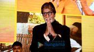 अमिताभ बच्चन 'दरवाजा बांध' अभियान के शुभारंभ की शोभा बढ़ाते हुए