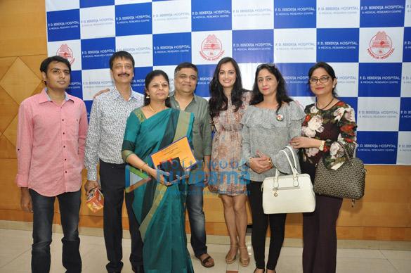 हिंदुजा हॉस्पिटल में नजर आईं दिया मिर्जा