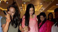 अमृता अरोड़ा और खुशी कपूर बैस्टियन, बांद्रा में आईं नजर