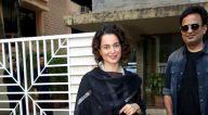 कंगना रनौत जुहू में एक मीटिंग के बाद आईं नजर