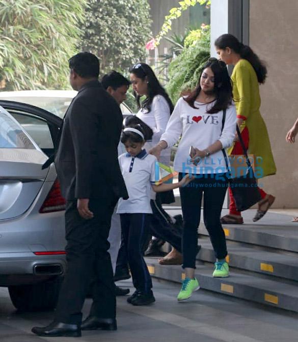ऐश्वर्या राय बच्चन यौचा, बीकेसी में अपनी बेटी आराध्या बच्चन के साथ नजर आईं