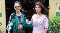Photos: रकुल प्रीत सिंह और रिया चक्रवर्ती बांद्रा में फ़ार्मर्स कैफ़े, बांद्रा में नजर आईं