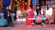 Photos: कार्तिक आर्यन, भूमि पेडनेकर और अनन्या पांडे अपनी फ़िल्म पति पत्नी और वो को कपिल शर्मा शो के सेट पर प्रमोट करने पहुंचे