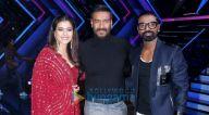 Photos: अजय देवगन और काजोल अपनी फ़िल्म तान्हाजी-द अनसंग वॉरियर को डांस प्लस 5 के सेट पर प्रमोट करते हुए नजर आए