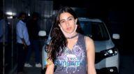 Photos: सारा अली खान जुहू में पूजा एंटरटेनमेंट के ऑफिस में नजर आईं